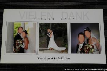 Danksagung zur Hochzeit Danksagungskarten Muster