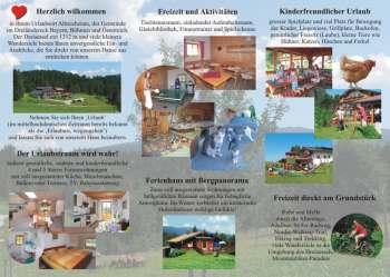 Ferienhaus in Bayern im Bayerischen Wald - Flyer Design - Entwürfe, Beispiele, Vorlagen