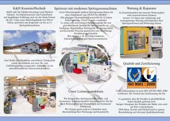 Kunststoffspritzguss Kunststofftechnik Spritzerei Flyer Design Beispiele Vorlagen Entwürfe