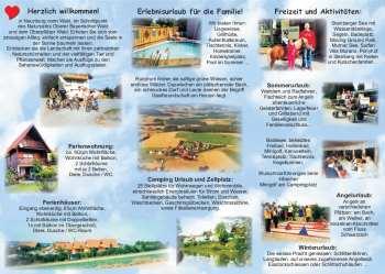 Flyer für Urlaub auf dem Bauernhof in Bayern in der Oberpfalz im Oberpfälzer Wald