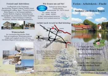 Flyer für Hotel Werbung im Bayerischen Wald - See Hotel in Arrach bei Lam