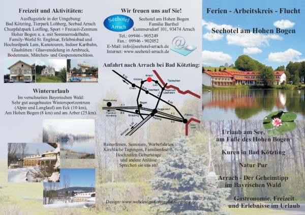Flyer Erstellen Hotel Pension Bayern BayerischerWald Oberpfalz