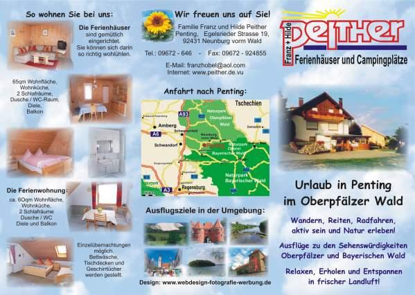 Flyer Erstellen Ferienwohnung Vermieter Bayern Oberpfalz Oberpfälzer Wald