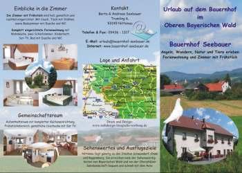 Urlaub auf dem Bauernhof im Oberen Bayerischen Wald - Flyer Design Beispiele Vorlagen Entwürfe