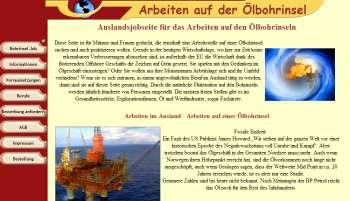 Ostsee und Nordsee Arbeit Bohrinsel