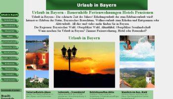 Portal für Unterkünfte in Bayern
