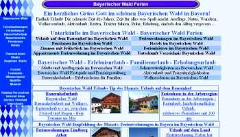 Ferienwohnungen Portal Bayern Bayerischer Wald