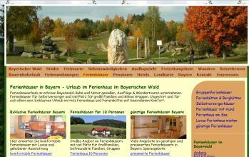 Webseiten Erstellung: Internet Portale ... Bayerischer Wald Städte Portal