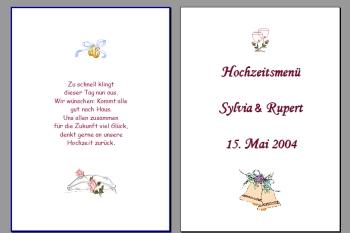 Text Muster Menükarte für Hochzeit Vorlage selber machen Gestaltung